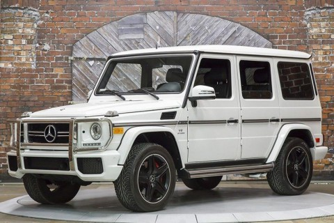 2014 Mercedes Benz G Class G63 AMG Polar White Black Designo Nappa Leather for sale